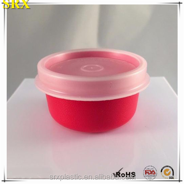 High Quality Customized red PP ROUND Pill Box Wholesale with Clear Lid, Custom design mini round pill box Manufacturer