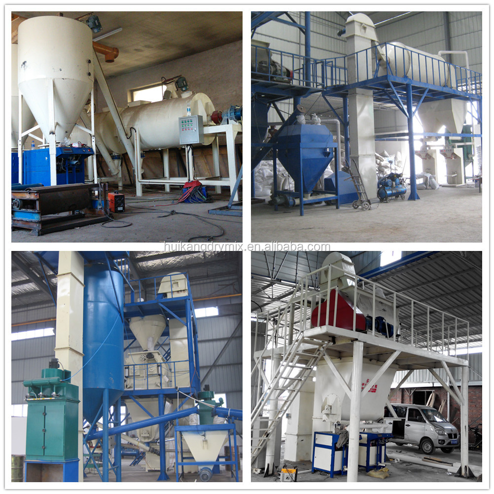 Money earning floor mortar mixing production line,floor tile adhesive and grout mixer machine