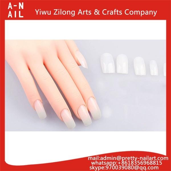 Nail Art Practice Moveable Hand Acrylic Gel False Tip Tool Nail ...