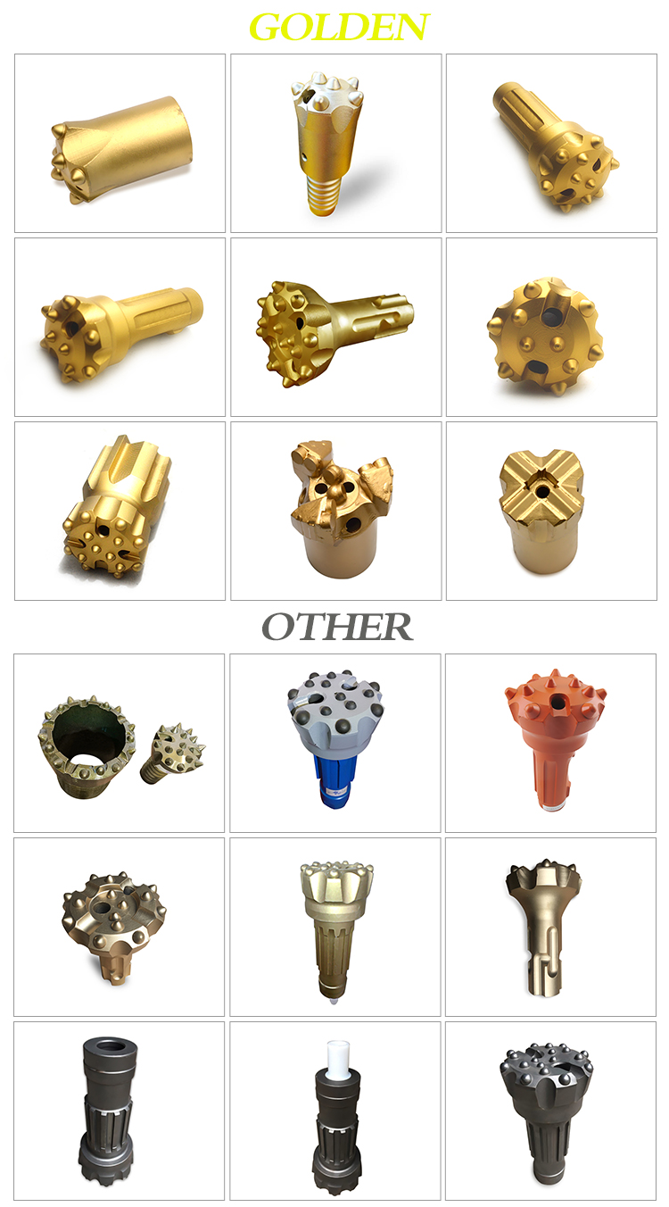 Hard rock factory price tricone grinder tungsten steel nail mining machine tool carbide tapered dth hammer set drill  button bit