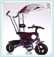 popular and beautiful kids tricycle good price and high quality4 in 1rear wheel double brakefor 1-7years old