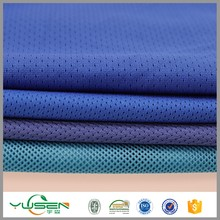 100% polyester kleding backpack mesh material linen fabric for cloth