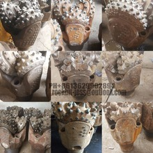 re-run/re-tipped/rebuilt/used/second hand/scrap/junk tricone rock drill roller bits for water well drilling