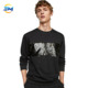 2018 new product Sequined decorative streetwear o neck long sleeve sweatshirt for men coat