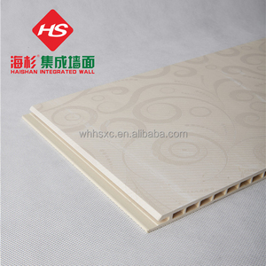 High Strength 9 mm Durable WPC Interior Decoration Ceiling Soundproof and Fireproof Fashion Wood and Bamboo Fiber&PVC Ceiling