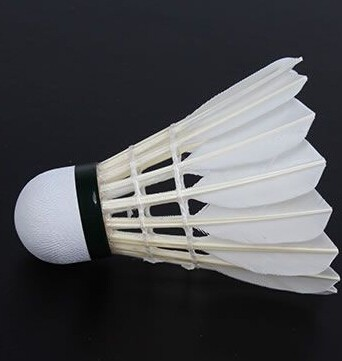 best badminton shuttlecocks made of goose feather with cork and plastic/perfect badminton artificial turf/outdoor badminton