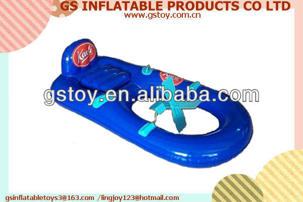PVC good quality portable and durable inflatable pedal boats EN71 approved