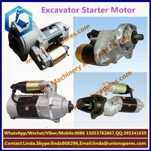 High quality For for komatsu 6D102 excavator starter motor engine PC200-6-7  6D102 electric starter motor