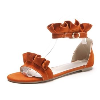 f4e466749 New Fashion Summer Ladies Flat Heel Sandals Open Toe Casual Dress Shoes