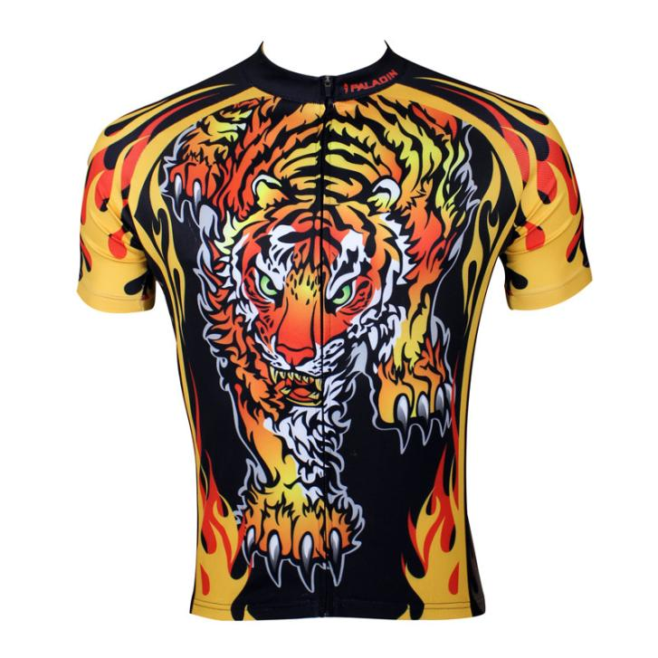 Get Quotations · Paladin New Original Tiger Designs Cycling Wear Bike Jersey  Short Sleeves Shirt Top Mens Cycle Sport 4a5f9a781