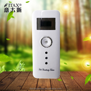 LCD ABS plastic wall-mounted diffuser auto sensor spraying perfume fragrance air aroma dispenser