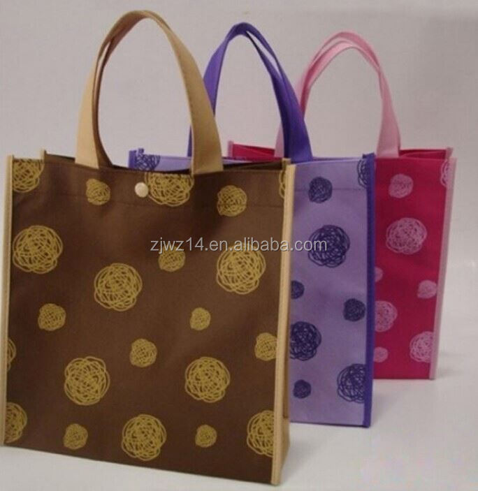 cheap fashion tnt bag/ non woven machine price/ non woven bag with pvc