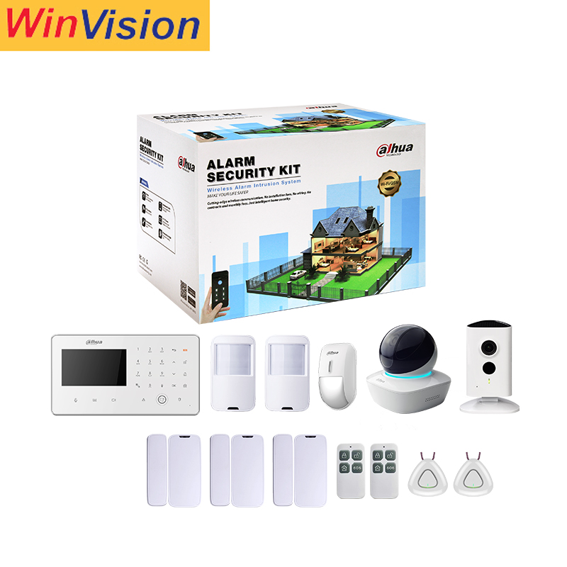 Dahua Draadloze Alarm Kit, Huis GSM Alarm Set, Draadloze WIFI Camera Smart Home Security Alarm Systeem