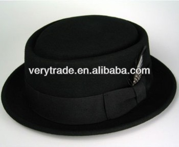 New Wool felt Crushable Pork Pie trilby fedora stingy short brim upturn hat 0a545641fa4