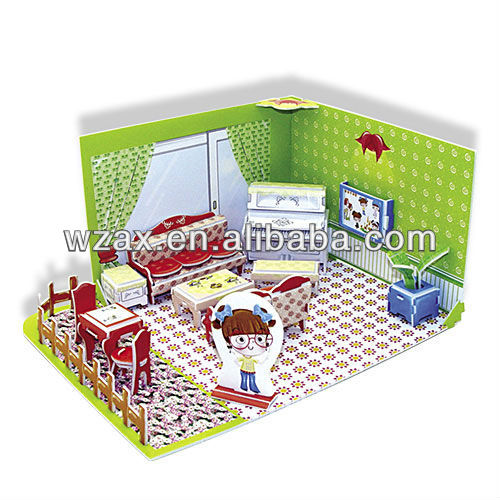 3D girs kitchen paper puzzle manufacturers