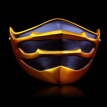 Gold and silver color movie Final Fantasy lower half face resin mask