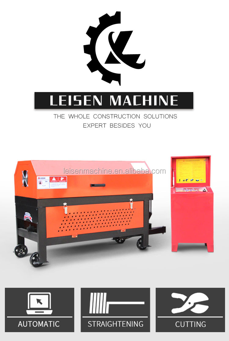 Automatic hydraulic steel bar straightening cutting machine Elegant design steel bar straightening cutting machine