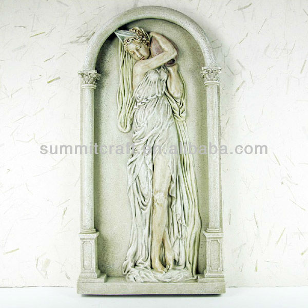 Lady relief 3d art resin painting for wall