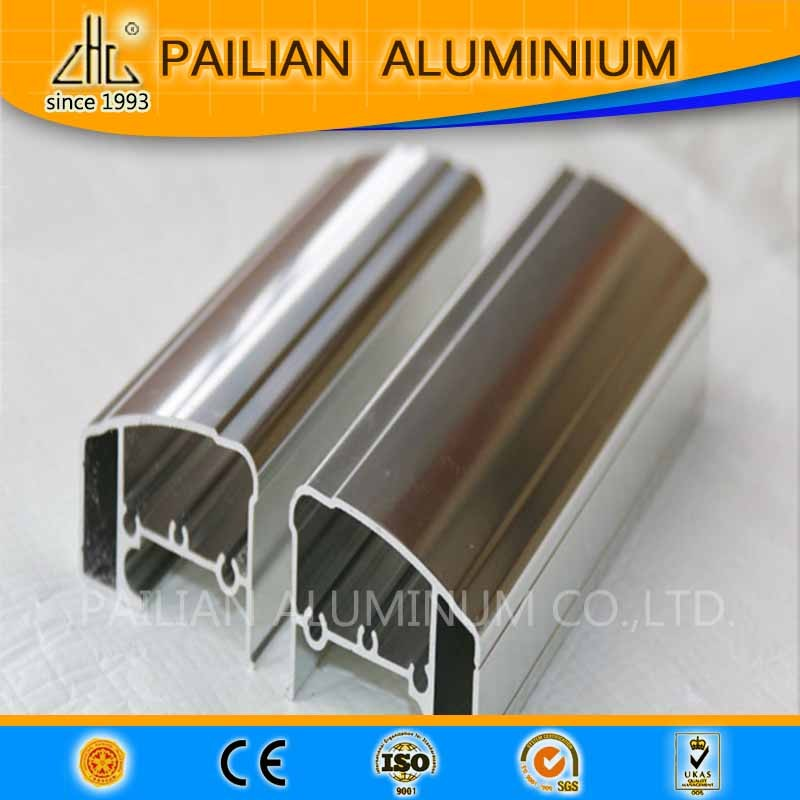 WOW!! GB standard mirror polish anodized finish aluminum profile 6064 chemical polishing aluminium frame