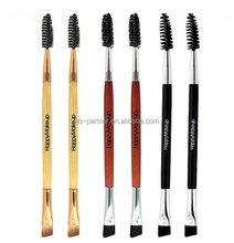 2017 Fashion women double head eyeshadow brush / angled eyebrow brush / eyelash spoolie makeup tool