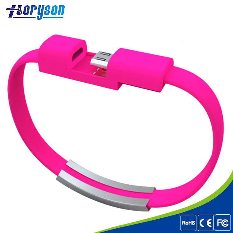 Fashion Silicon Wristband Bracelet Micro USB Charging Data Cable