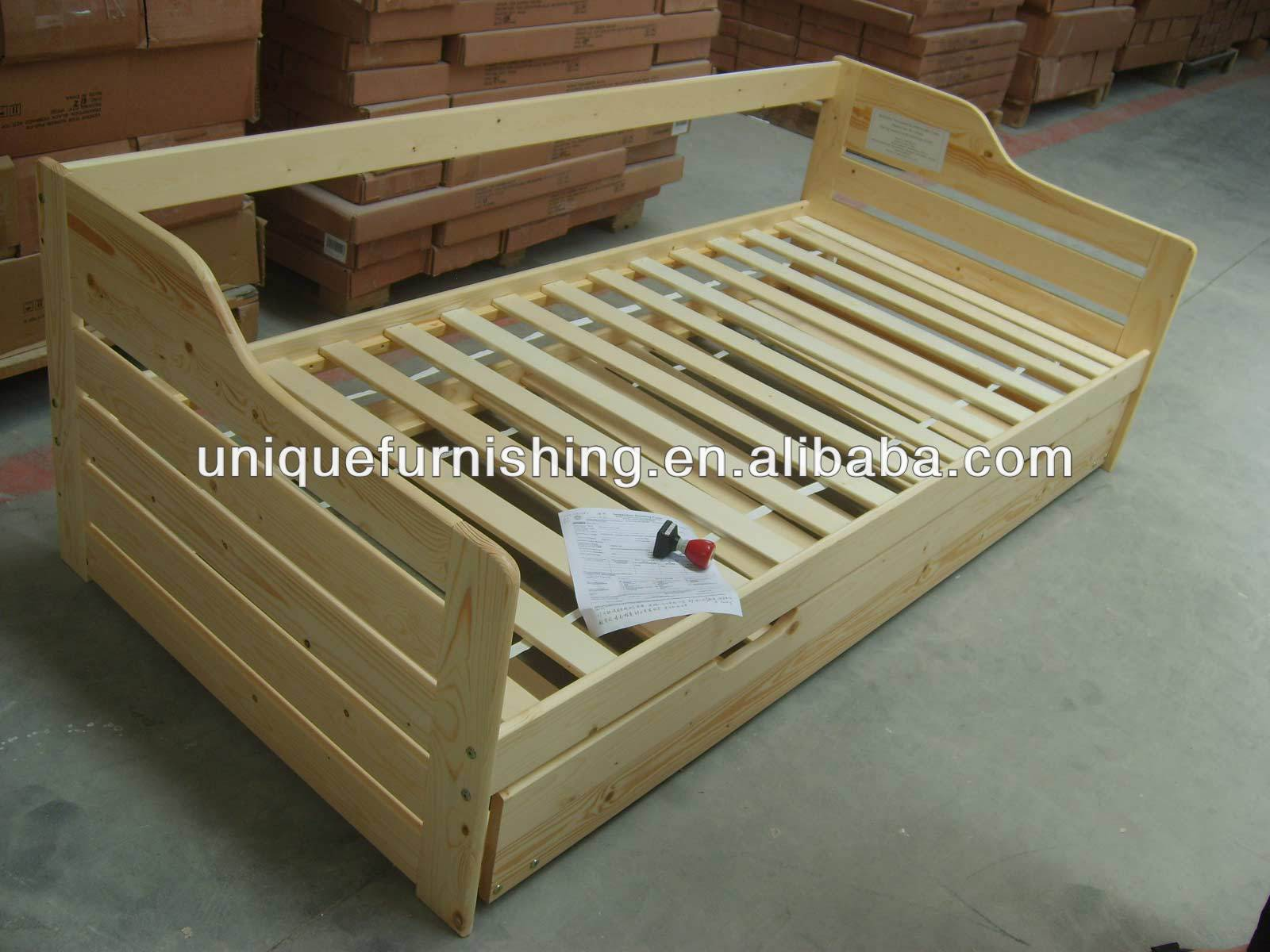 Modern Quality Solid Pine Wood Box Bed Designs For Sofa Desingn Double Product On Alibaba