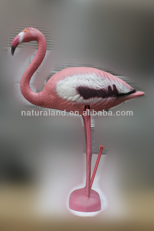Plastic pink Flamingo, plastic bird(Garden Decoration)HYZ037