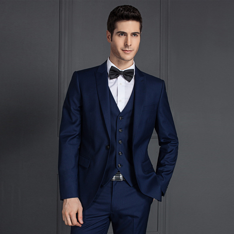 f5c393dd292 2 Piece Suit Designs Latest Men Suit Photos Royal Blue Coat Pant ...