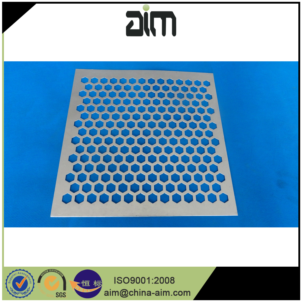 Metal strips perforated