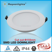15W Round Dimmable Slim LED Recessed Panel Down Light Fixture