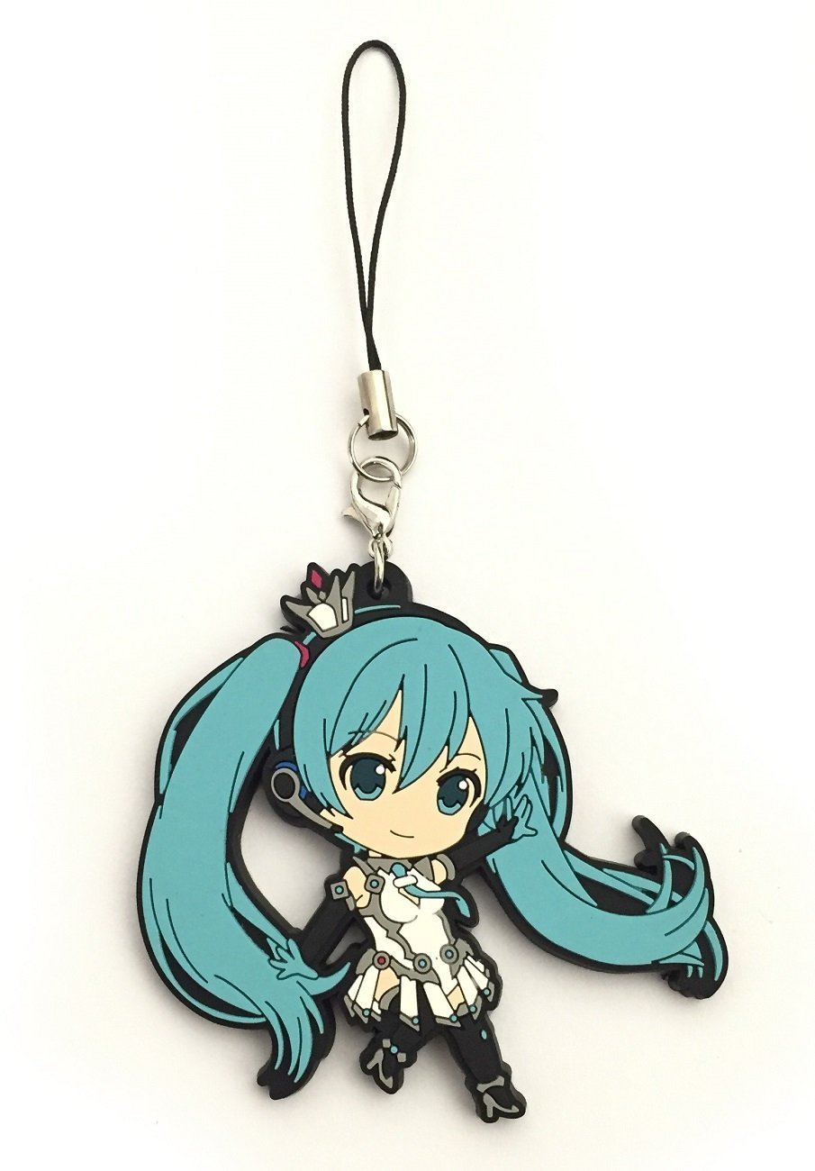 Get Quotations Vocaloid Hatsune Miku Pvc Keychain Dancing With Performance Costume