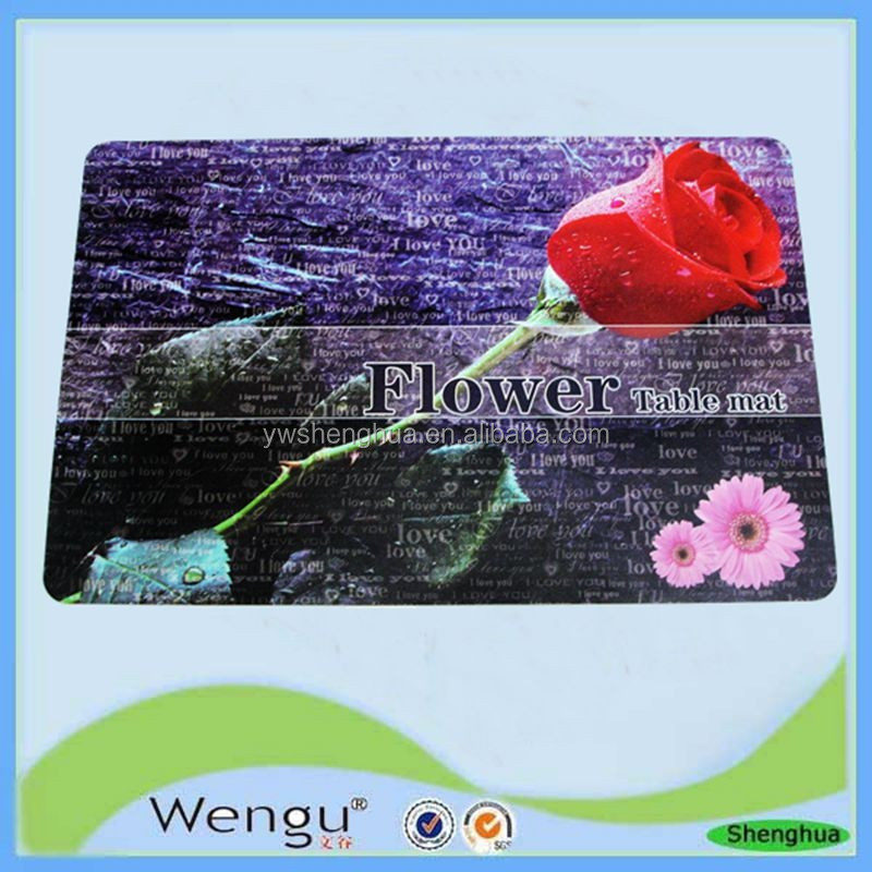 Supply pp material cheap plastic placemat kitchen accessories, place mat supplier and manufacture