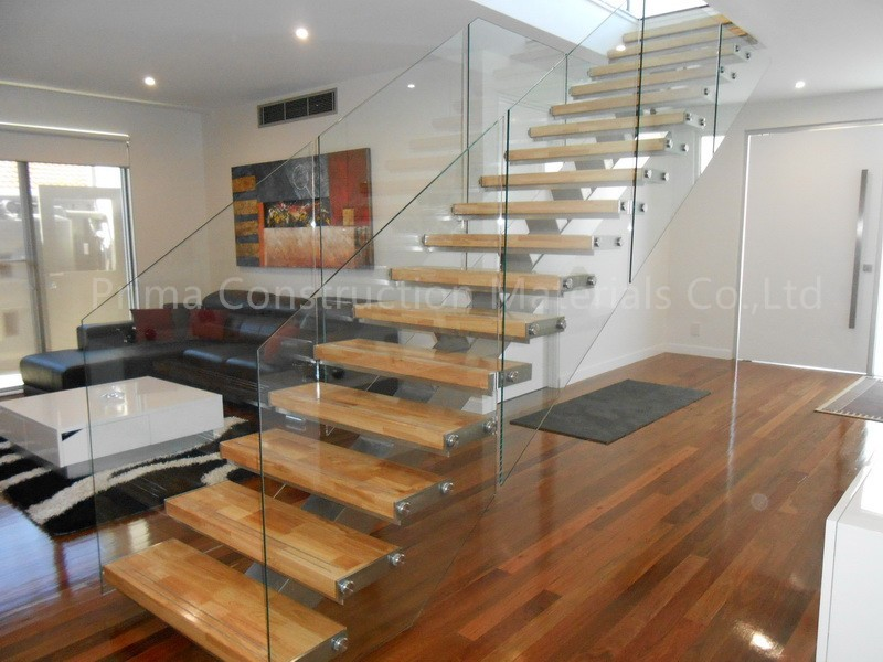 Cheap Price Indoor Steel Wood Straight Staircase