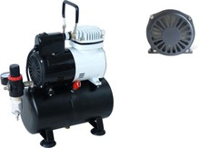 Single cylinder with single pressure tank graphic spray pump air compressor(oil-free) AF186