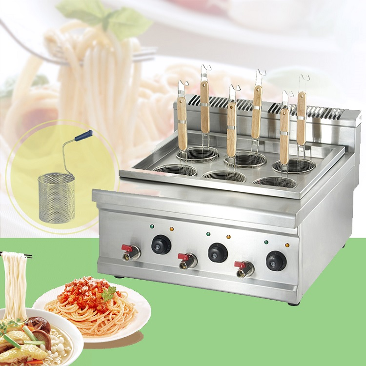 Factory direct sale electric commercial noodle cooker price counter top commercial pasta cooker for wholesale