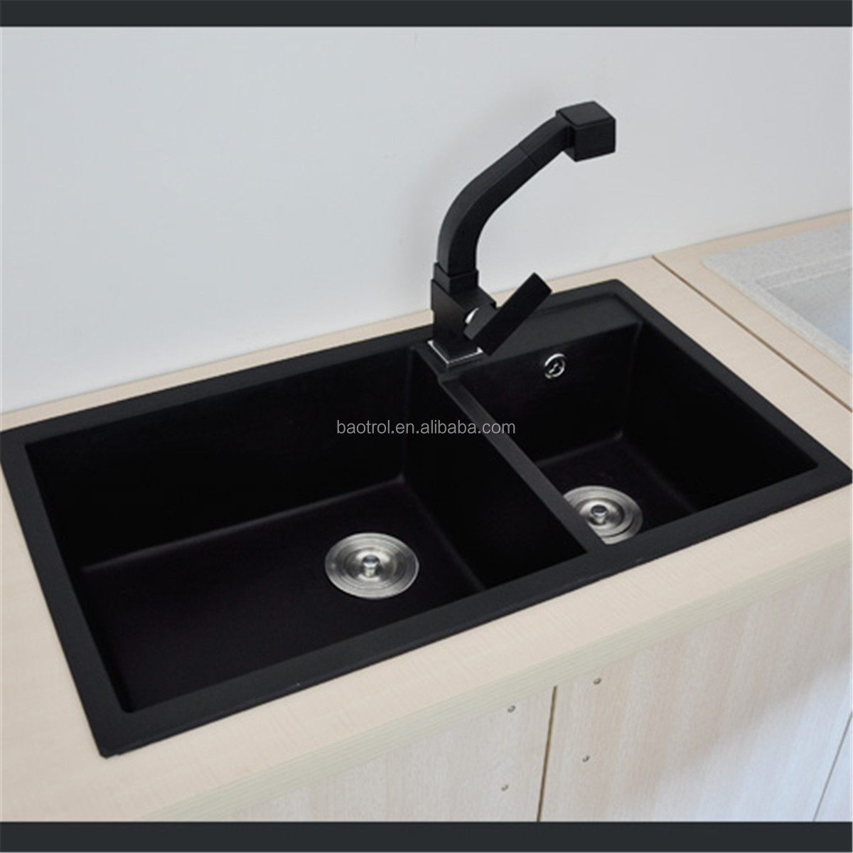 Quartz Stone Sink Low Price Artificial Kitchen Composite