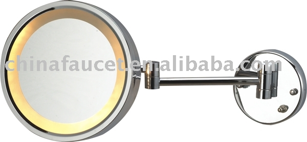 Wall Mounted Mirror 5x Magnification w/ Fluorescent Light
