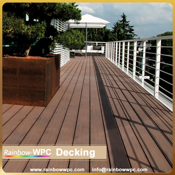Wood Textured Pvc Outdoor Plastic Composite Decking Floor