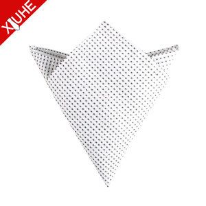 Men High Quality Polka Dot Design Polyester Pocket Square Satin Handkerchief Manufacturer