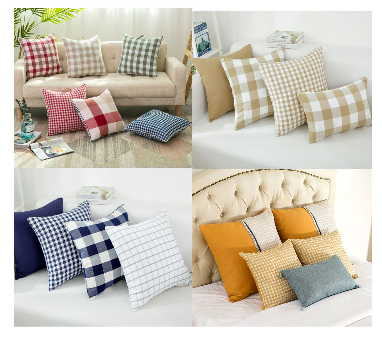 PLHLI New Style Sofa knitted Throw Pillows Heart Shape Pillow Love Knotted Cushion