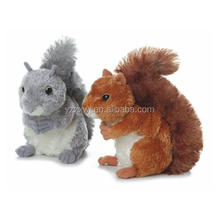 wholesale small squirrel plush toys cute stuffed animal velboa soft plush squirrel  kid custom cartoon soft plush brown squirrel