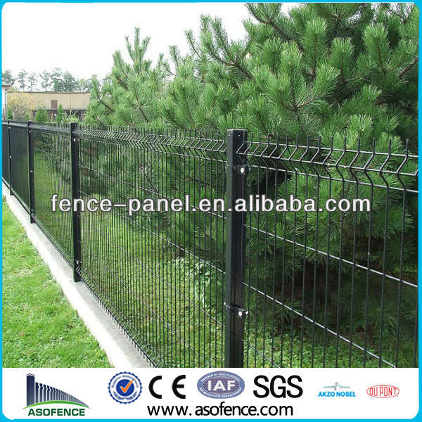 Green coated Hedge fences