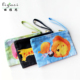 Customized Small Canvas Zipper Pouch Travel Cotton Canvas Cosmetic Bag Fancy Mobile Pouches For Girls.