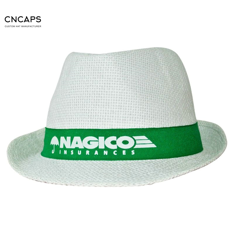 5920dffd1a8ca Promotional Straw Hat Fedora Style With Custom Logo As Gifts - Buy ...