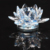 Wholesale crystal glass lotus flower candle holder for home decoration