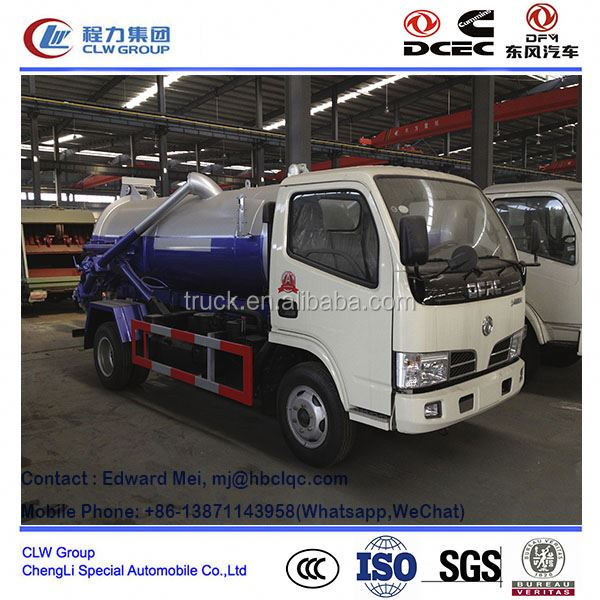 Dongfeng 4*2 4*4 type 2000 liter used sewage suction truck