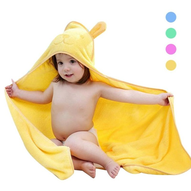 wholesale 100% cotton terry baby hooded towel
