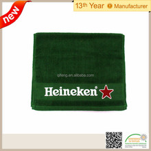 100% Cotton Solid Ribbed Bar Mop Towel with embriodery logo beer towel