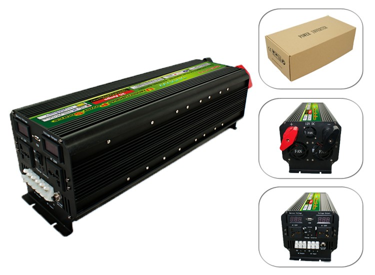12v/24v 220v 5000W inverter with battery charger UPS big power 10000W for home use