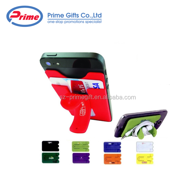Top Quality Custom Logo Phone Card Holder Sticker with Stand